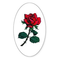 Red Rose Tattoo Decal
