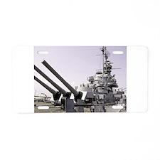 USS Alabama Aluminum License Plate