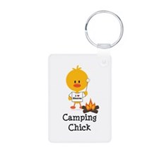 Camping Chick Keychains