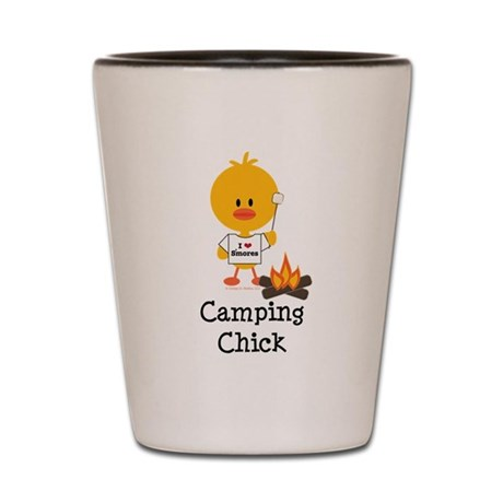 Camping Chick Shot Glass