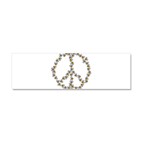 Peace Sign (made of bees) Car Magnet 10 x 3