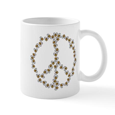 Peace Sign (made of bees) Mug