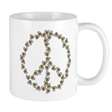 Peace Sign (made of bees) Mug