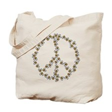Peace Sign (made of bees) Tote Bag