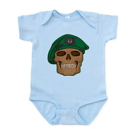 Green Beret Skull Infant Bodysuit
