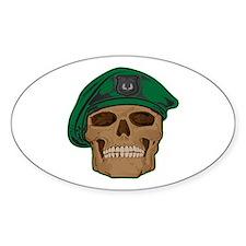 Green Beret Skull Decal