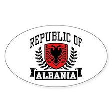 Republic of Albania Oval Decal