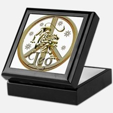 Leo Zodiac Peace Keepsake Box