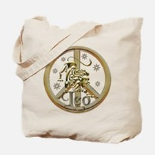Leo Zodiac Peace Tote Bag