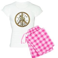 Leo Zodiac Peace Pajamas