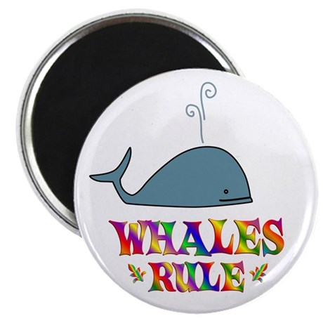"""Fun Whales Rule 2.25"""" Magnet (10 pack)"""