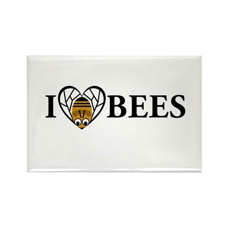 I Love Bees (bee heart) Rectangle Magnet