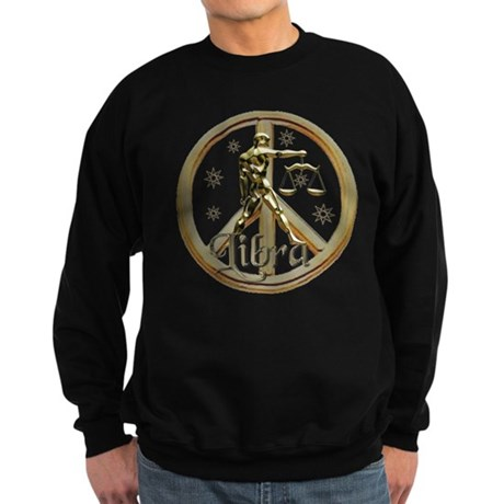 Libra Zodiac Peace Sweatshirt (dark)
