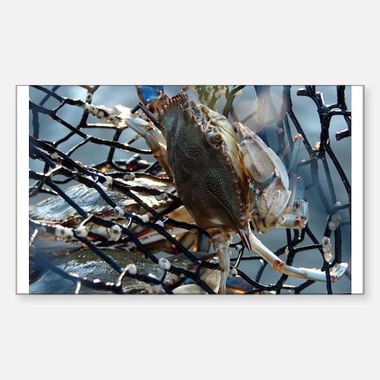 Gumbo Crab Sticker (Rectangle)