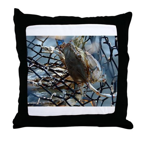 Gumbo Crab Throw Pillow