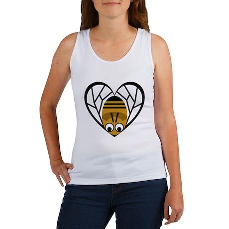 Heart Shaped Bee Women's Tank Top