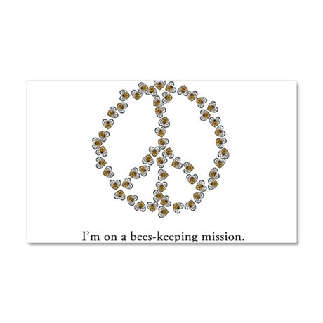 I'm on a bees-keeping mission Car Magnet 20 x 12
