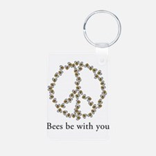 Bees be with you (peace symbo Keychains