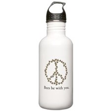 Bees be with you (peace symbo Water Bottle