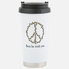 Bees be with you (peace symbo Travel Mug