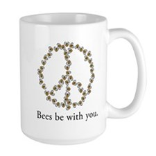 Bees be with you (peace symbo Mug