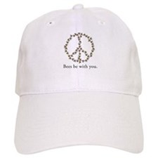 Bees be with you (peace symbo Baseball Cap