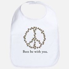 Bees be with you (peace symbo Bib