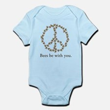 Bees be with you (peace symbo Infant Bodysuit