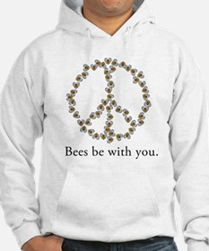 Bees be with you (peace symbo Hoodie