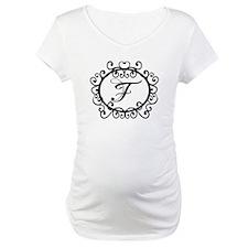 F Monogram Initial Letter Shirt