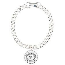 F Monogram Initial Letter Bracelet