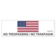 No Trespassing/No Traspasar Bumper Bumper Bumper Sticker