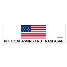 No Trespassing/No Traspasar Bumper Bumper Sticker