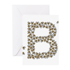 """""""B"""" (made of bees) Greeting Cards (Pk of 20)"""