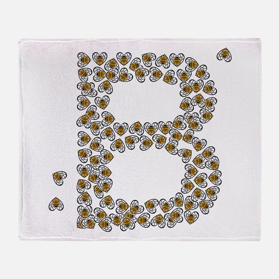 """""""B"""" (made of bees) Throw Blanket"""