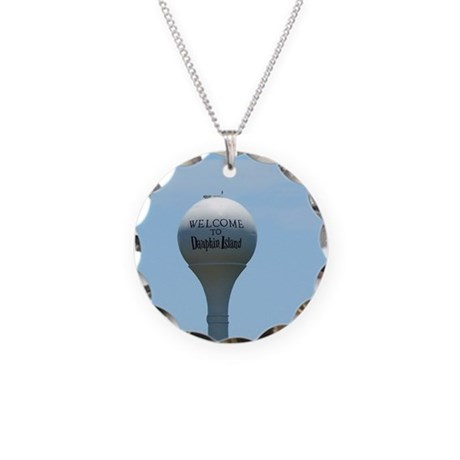 Welcome to Dauphin Island Necklace Circle Charm
