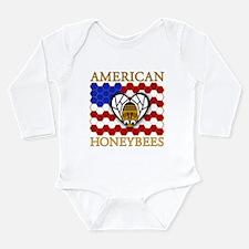American Honeybees Long Sleeve Infant Bodysuit