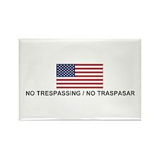 No Trespassing/No Traspasar Rectangle Magnet