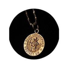 """Saint Christopher 3.5"""" Button"""