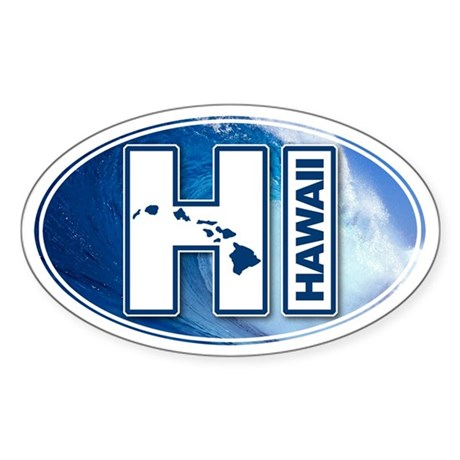 Hawaii Oval Sticker