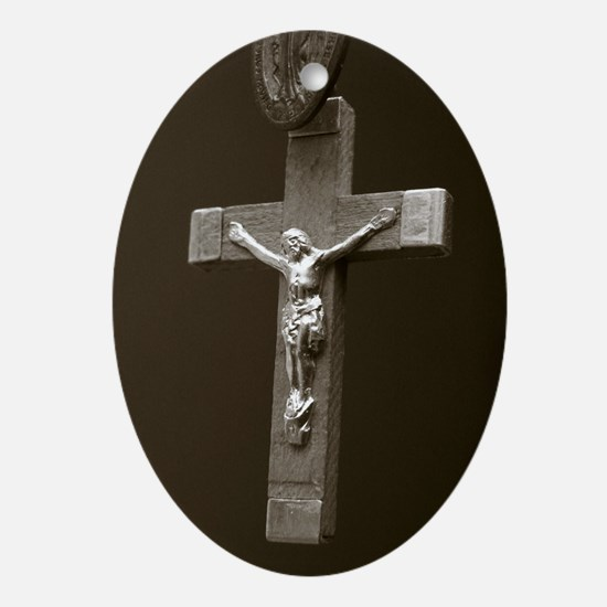 Holy Cross Ornament (Oval)