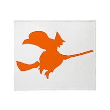 Orange Witch Throw Blanket
