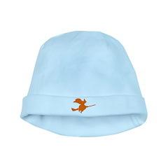Orange Witch baby hat