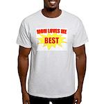Mom Loves Me Best Ash Grey T-Shirt
