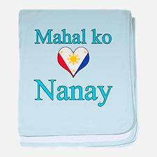I Love Mom (2) (Filipino) baby blanket