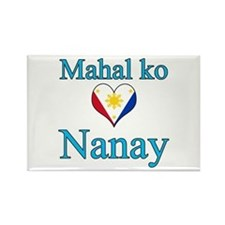 I Love Mom (2) (Filipino) Rectangle Magnet