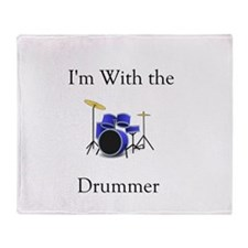 I'm with the Drummer Throw Blanket