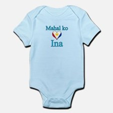 I Love Mom (Filipino) Infant Bodysuit