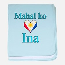I Love Mom (Filipino) baby blanket