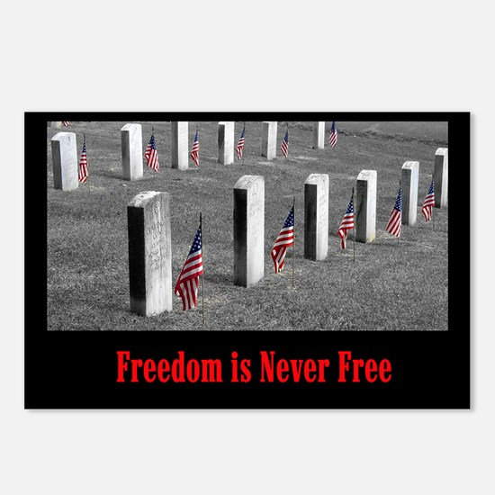 Freedom is Never Free Postcards (Package of 8)